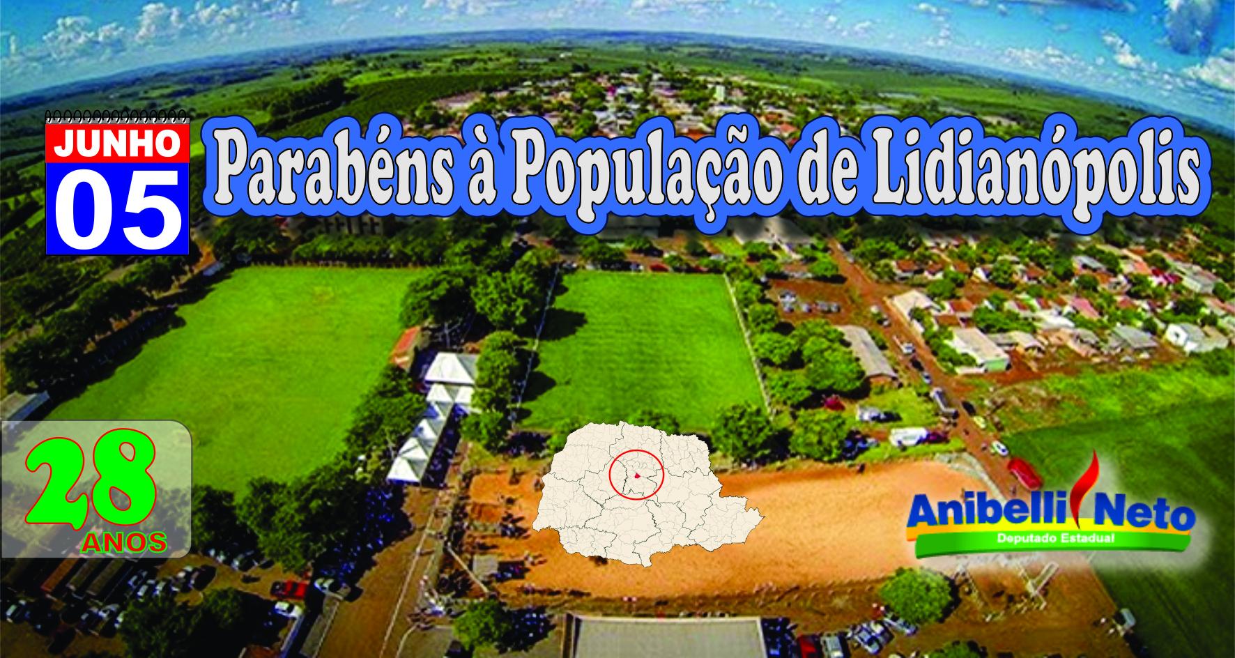 Parabéns à População de Lidianópolis