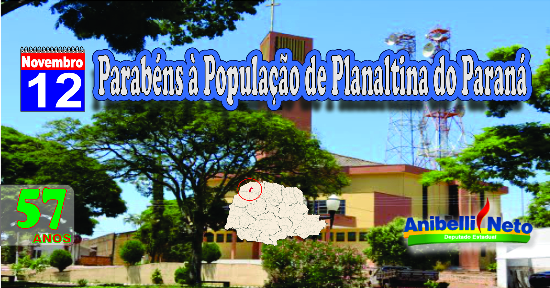Parabéns à População de Planaltina do Paraná
