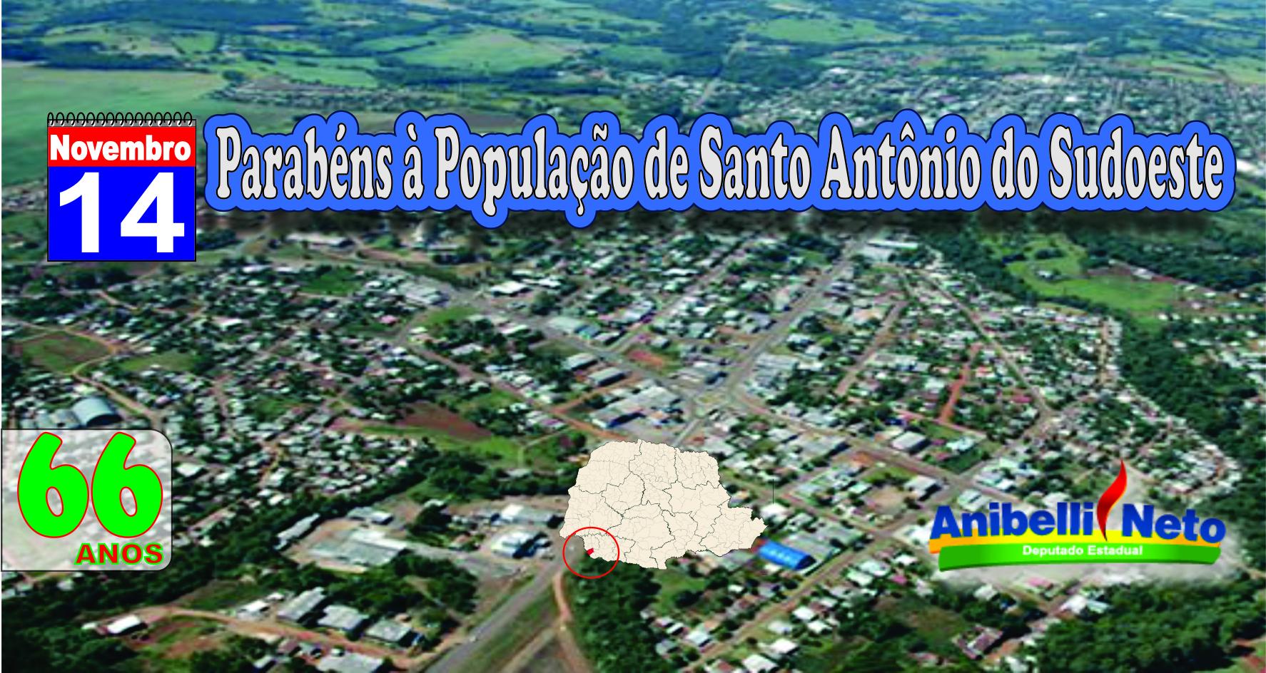 Parabéns à População de Santo Antônio do Sudoeste