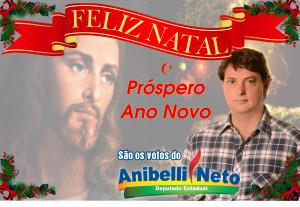 Cartão de Natal, Deputado Anibelli Neto 24,5cm x 17 cm