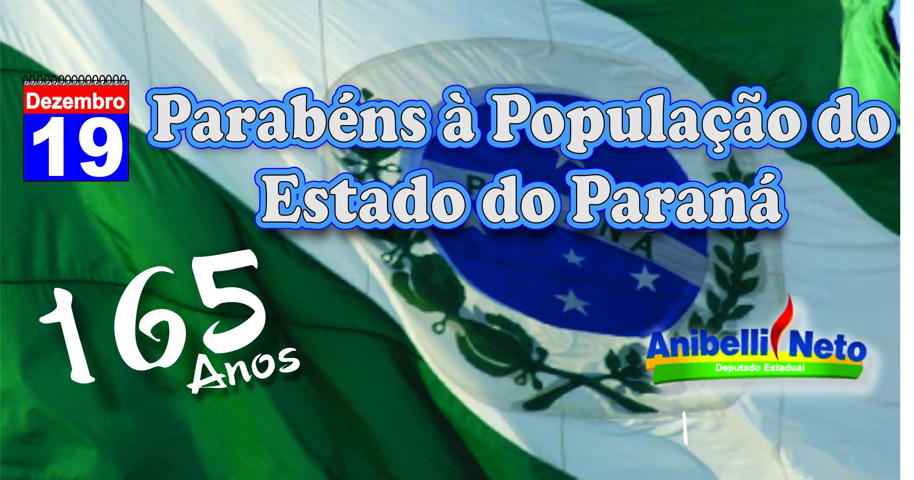 Parabéns à População do Estado do Paraná