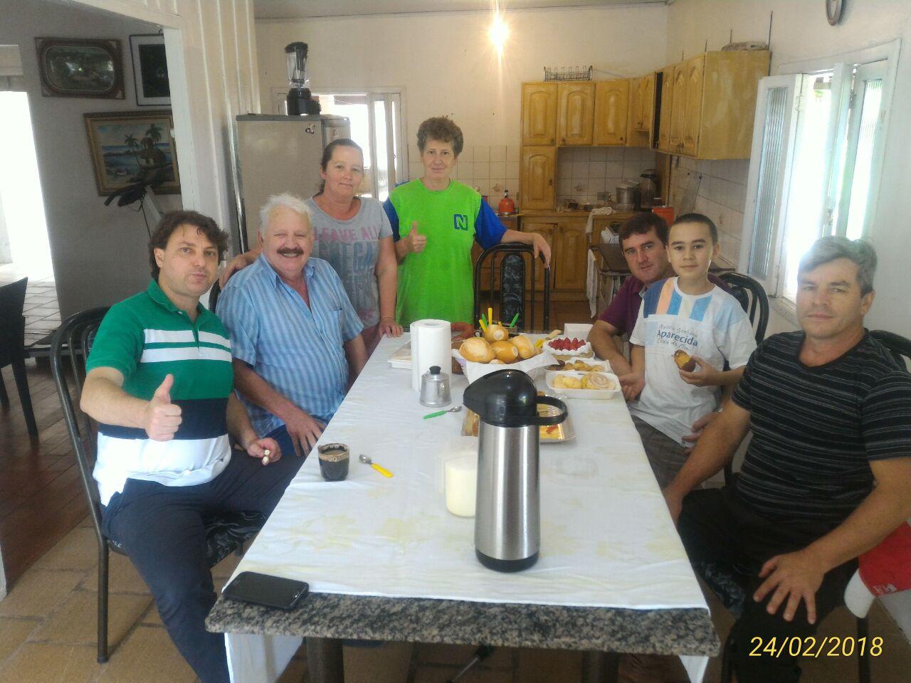 Anibelli Neto visitou seu amido João Negrelli em Quitandinha