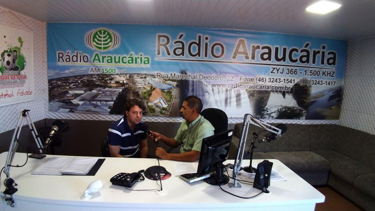 Visita a Rádio Araucária em Mangueirinha