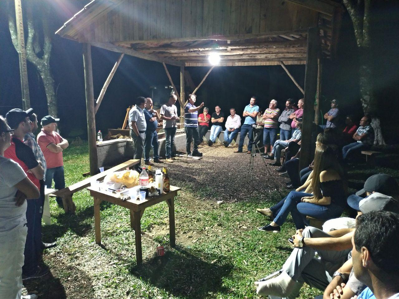 Reunião com companheiros do município de Honório Serpa