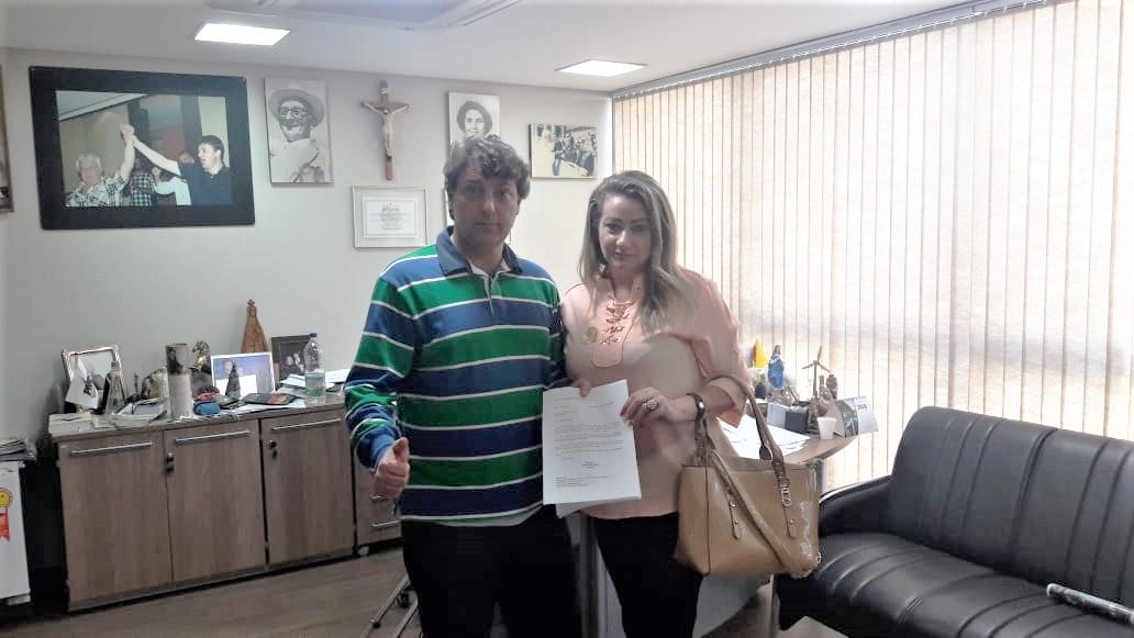 Visita da vereadora Dinair Ribas, do MDB de Piên.