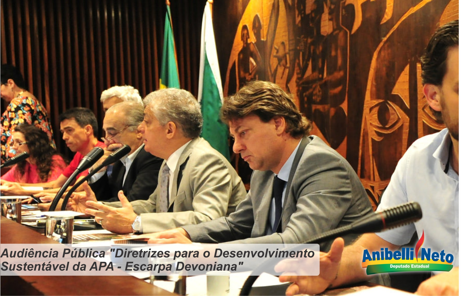 Deputado Anibelli Neto participa de Estudo sobre diretrizes para o uso sustentável da APA da Escarpa Devoniana.
