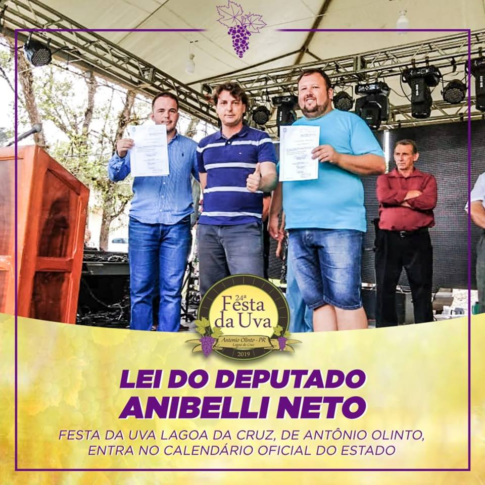 24º Festa da Uva da Lagoa da Cruz no município de Antônio Olinto