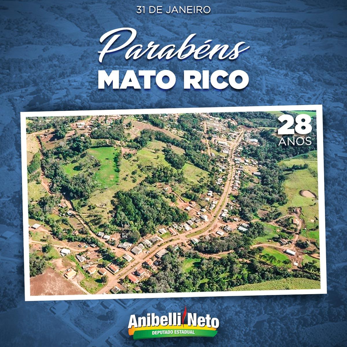 Parabéns a População de Mato Rico