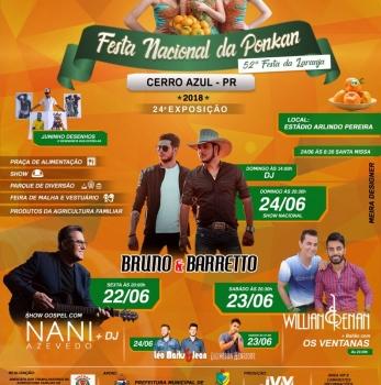 Cerro Azul realiza Grande Festa Nacional da Ponkan