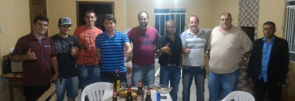 Anibelli com amigos de Tijucas do Sul