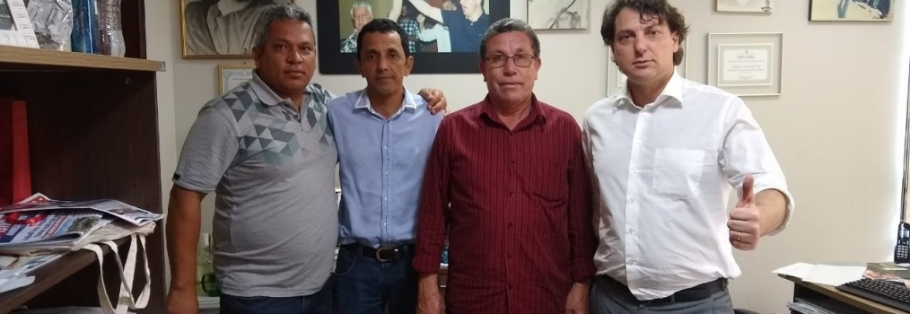 Anibelli Neto recebeu os vereadores do MDB do município de Santa Mônica.