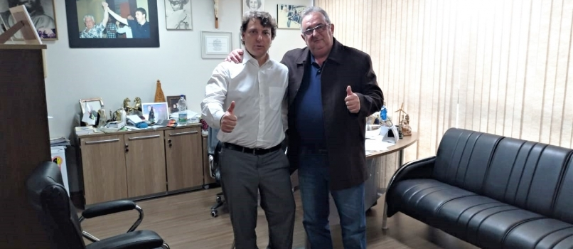 Visita do amigo vereador Barão, do MDB de Peabiru