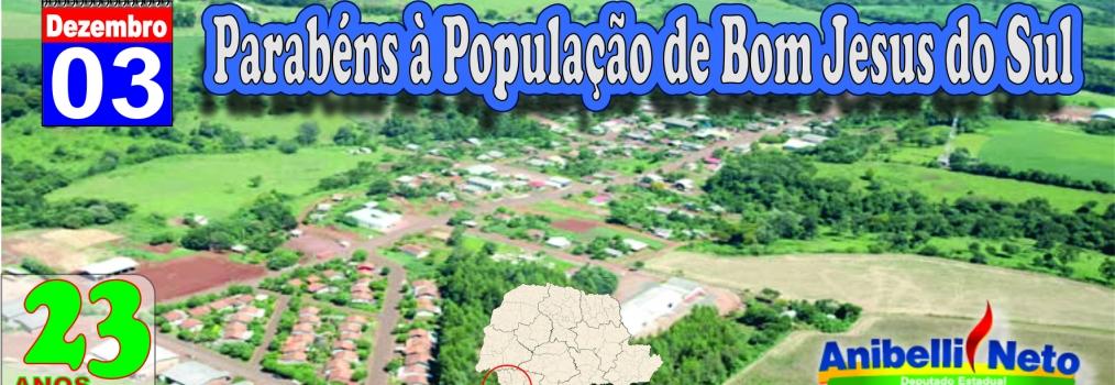 Parabéns à População de Bom Jesus do Sul