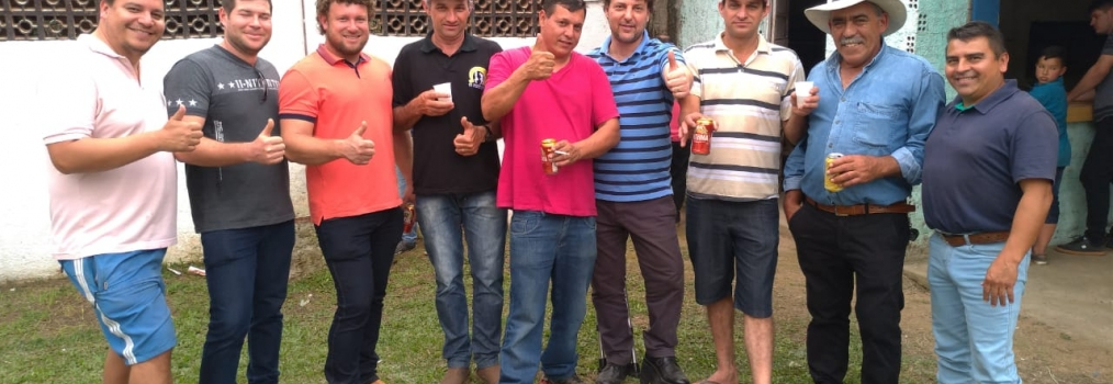 Visitando os amigos de Cerro Azul
