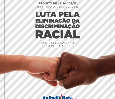Assembleia aprova projeto de Anibelli Neto que institui Dia Estadual contra a discriminação racial no Paraná