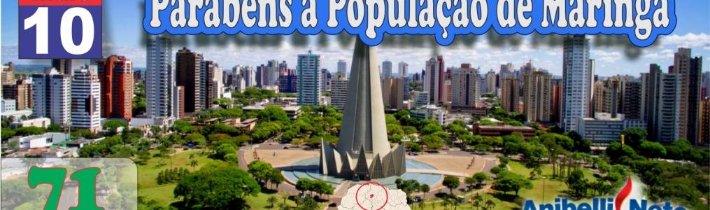 Parabéns à População de Maringá