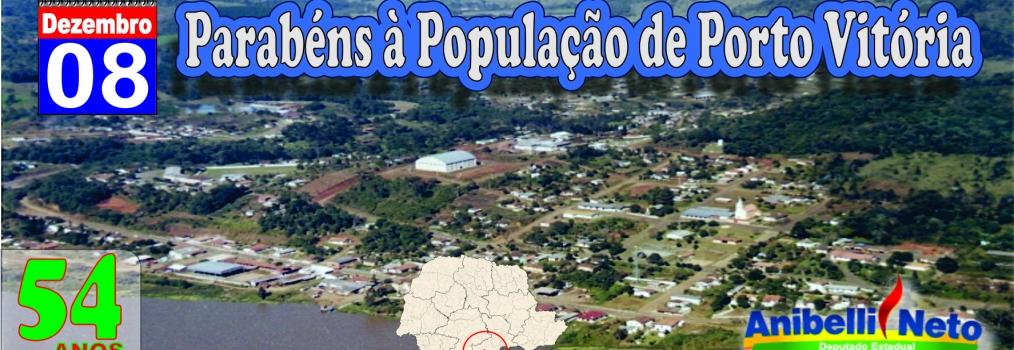Parabéns à População de Porto Vitória.