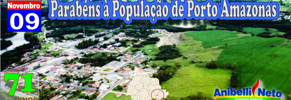 Parabéns à População de Porto Amazonas