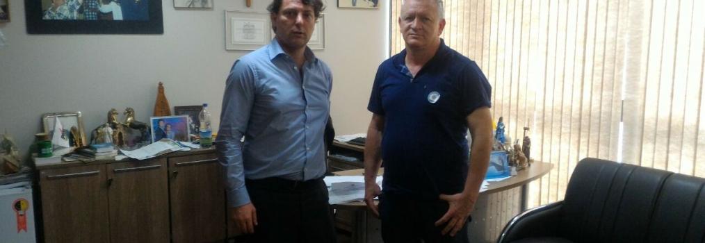 Visita do amigo Reinaldo presidente do PMDB de Santa Maria do Oeste.