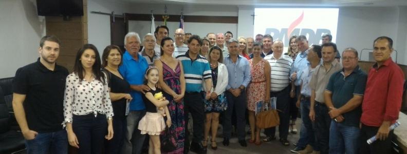 PMDB de União da Vitória cada vez mais forte e organizado