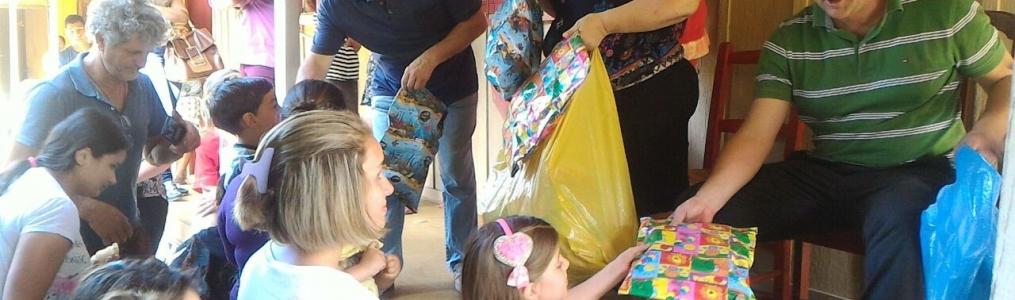 Natal antecipado para as Crianças de Agudos do Sul.