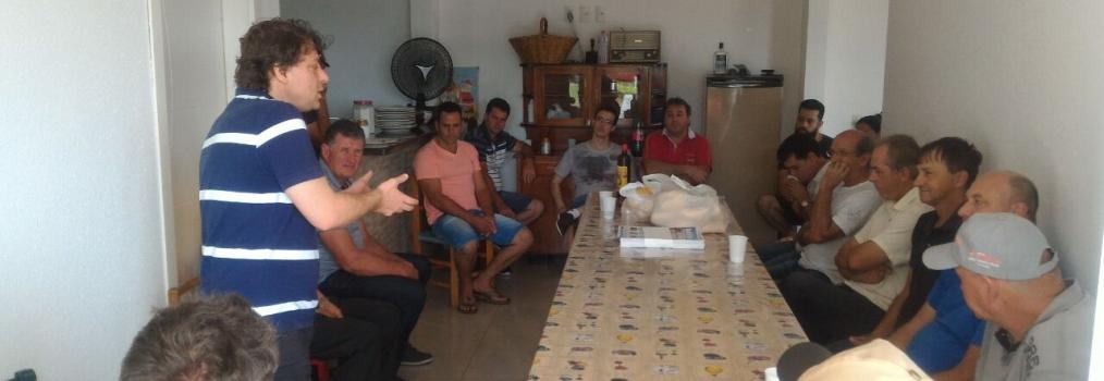 Anibelli Neto visita amigos no município de Chopinzinho.