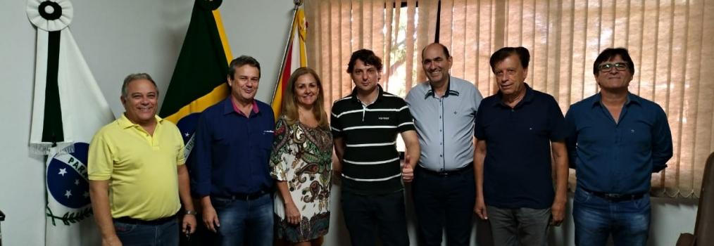 Visita ao Prefeito Jorge Nunes do MDB de Santa Mariana.