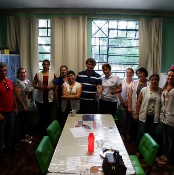 Anibelli Neto visita Escola Municipal Eugênio de Almeida do bairro de Fluviópolis em São Mateus do Sul.