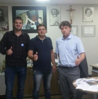 Recebendo a visita do amigo Zico de Palmas