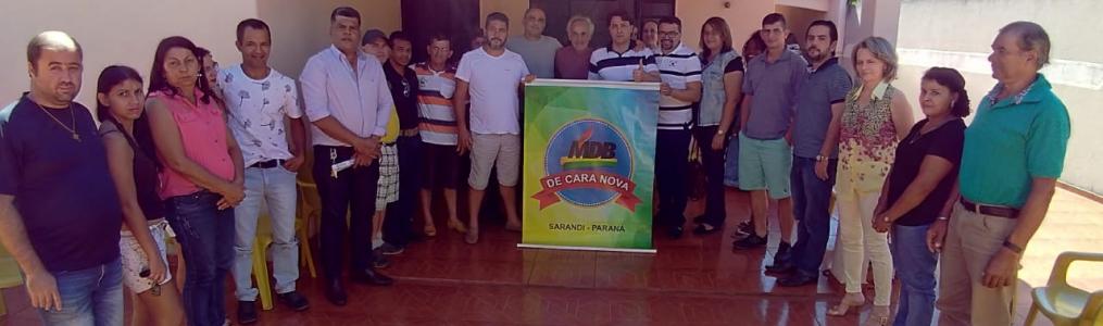 Anibelli Neto vice-presidente do MDB do Paraná participa de reunião do partido em Sarandi