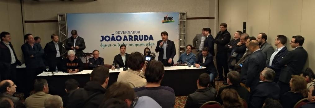 João Arruda é o candidato do MDB ao Governo do Estado.