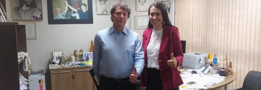 Anibelli recebe Candidata a vice-governadora pelo MDB na chapa do João Arruda.
