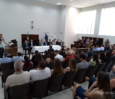 Anibelli Neto participa da Inauguração do Novo Fórum da cidade de Rio Negro.
