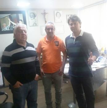 Anibelli Neto recebeu a visita do amigo João Mendes da cidade de Rio Bom