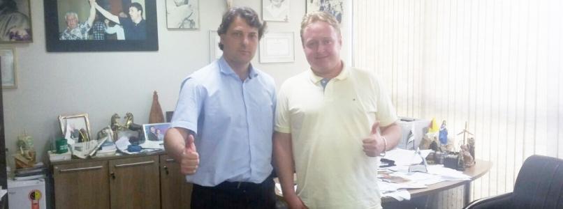 Anibelli Neto recebe a visita do amigo João Cioneck do município de Pitanga.