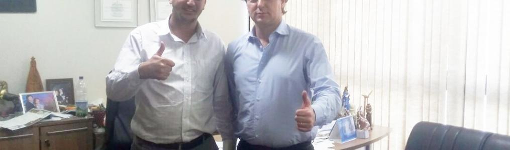 Presidente da Câmara de Vereadores de Mauá da Serra visitou o Deputado Anibelli Neto.