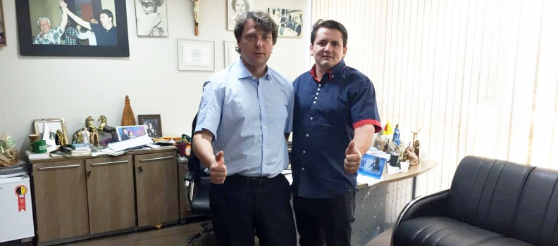 Visita do Vereador Zico vice-presidente do PMDB de Palmas.