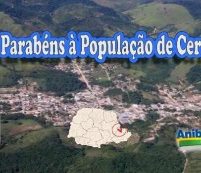 Parabéns à população de Cerro Azul