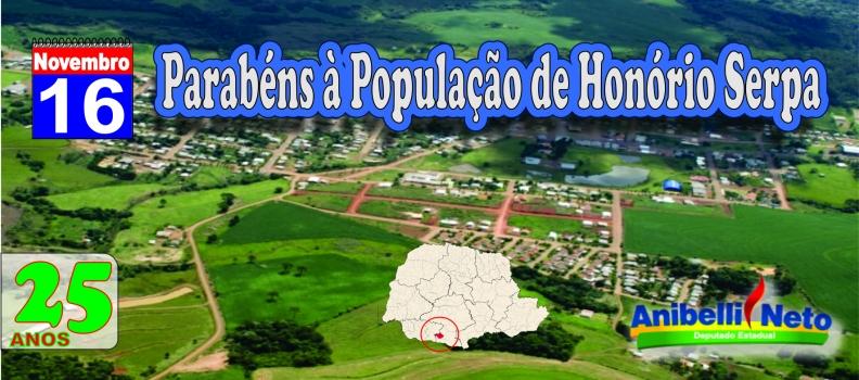 Parabéns à População de Honório Serpa