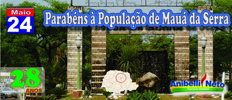 Parabéns à População de Mauá da Serra