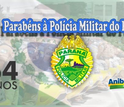 Parabéns à Polícia Militar do Paraná 164 Anos.