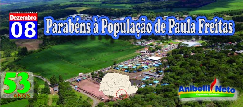 Parabéns à População de Paula Freitas