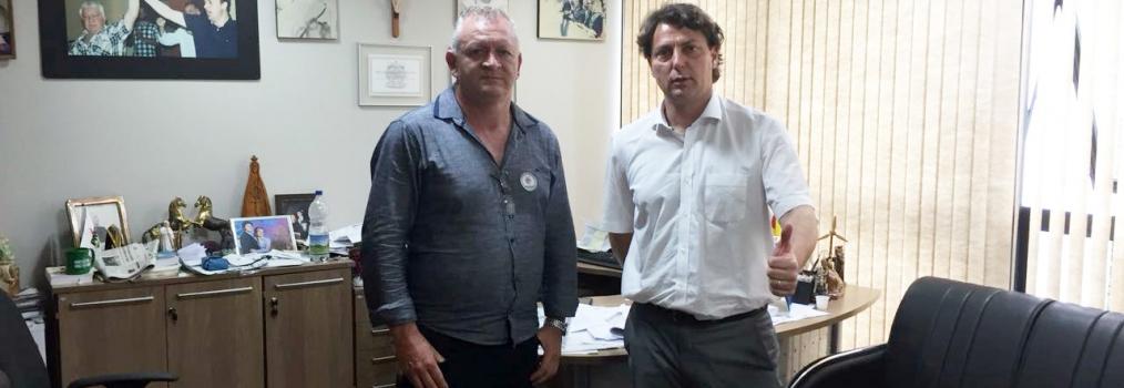 Visita do presidente do MDB de Santa Maria do Oeste.