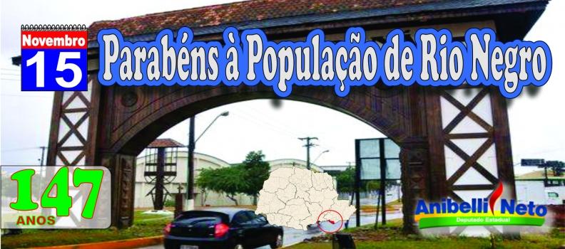 Parabéns à População de Rio Negro