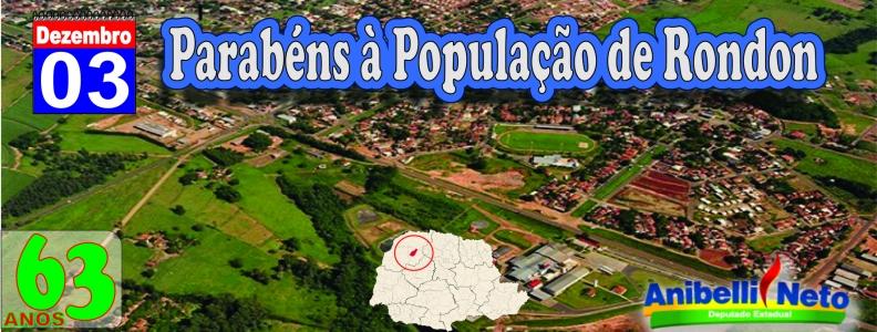 Parabéns à População de Rondon
