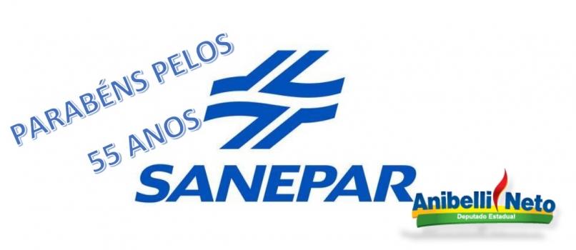 Parabéns a Sanepar pelos 55 anos