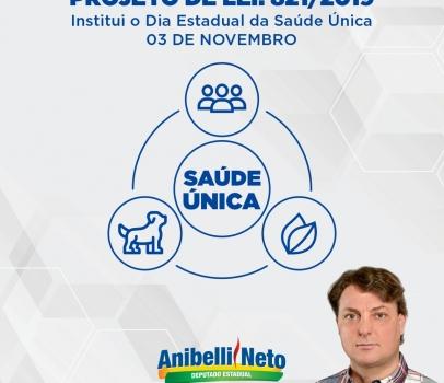 Anibelli Neto apresenta projeto que institui o Dia Estadual da Saúde Única