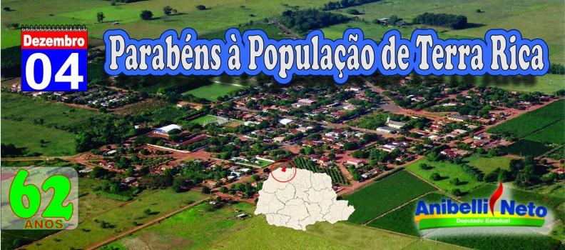 Parabéns à População de Terra Rica