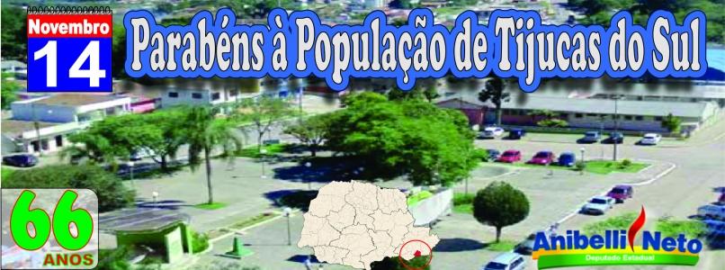 Parabéns à População de Tijucas do Sul.