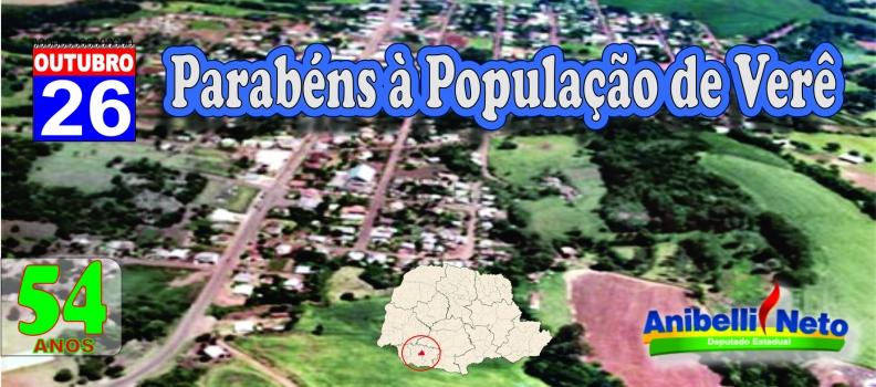 Parabéns à População de Verê.